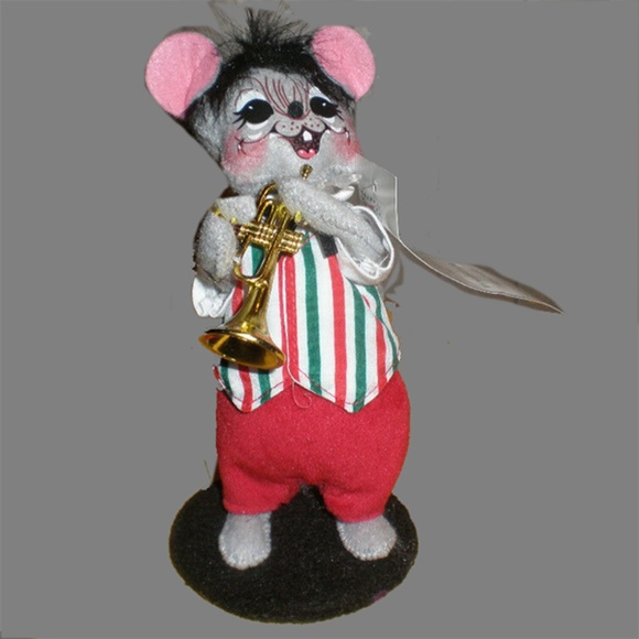 """Annalee 2009 Jazzy Christmas Mouse with Trumpet 6"""""""